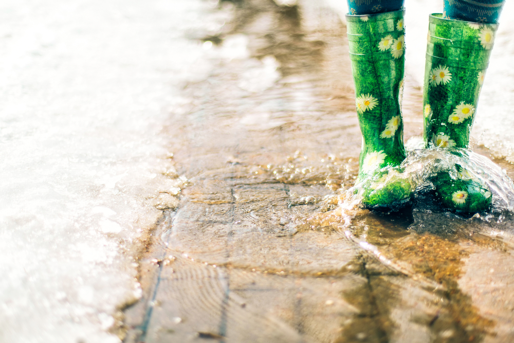 Melting snow causes basements to flood and water damage restoration services by Roth Companies and Roth Construction Company services water, fire, smoke damage restoration and remediation for Cleveland and Elyria, Ohio areas
