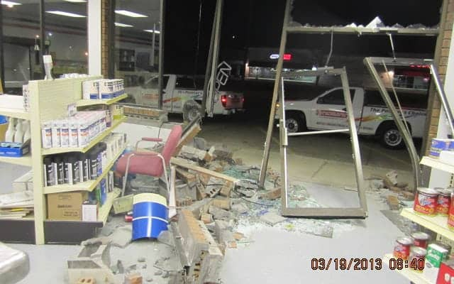 Business front vehicle damage | Vehicle damage cleanup services by Roth Companies and Roth Construction Company services water, fire, smoke damage restoration and remediation for Cleveland, Elyria, Akron, Canton, Sandusky, Youngstown, OH, Ohio areas