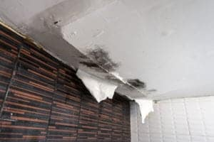 Ceiling damage due to upstairs leaking | Water damage restoration services by Roth Companies and Roth Construction Company services water, fire, smoke damage restoration and remediation for Cleveland, Elyria, Akron, Canton, Sandusky, Youngstown, OH, Ohio areas